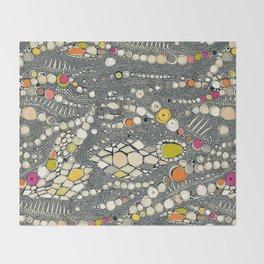 iguana skin indigo pop Throw Blanket