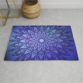 Dark Mandala in Blue Rug