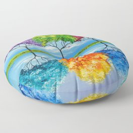 Each tree has its own smell Floor Pillow