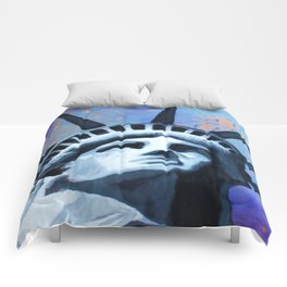 Welcome to New York Statue of Liberty Comforters