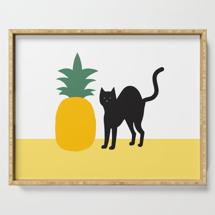 Pineapple and The Cat Serving Tray
