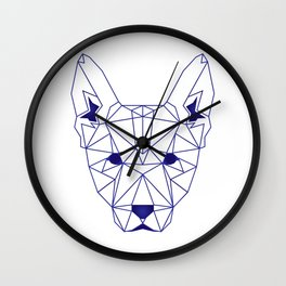 Geometric dog Wall Clock