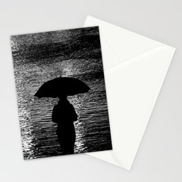Rain, river and introspection Stationery Cards