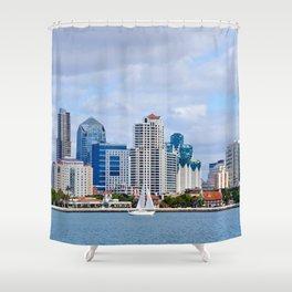 Sail On San Diego Bay Shower Curtain