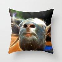 goat Throw Pillows featuring Goat by Veronika