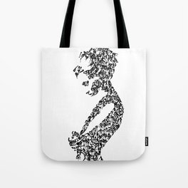 Kanji Calligraphy Art :woman's face #27 Tote Bag