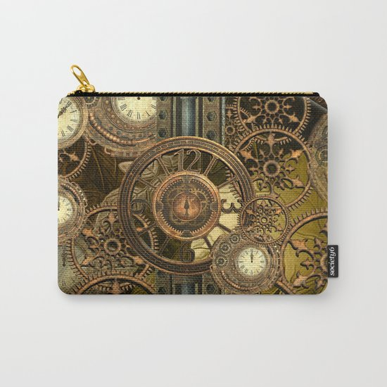 Steampunk, awesome clocks Carry-All Pouch