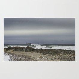 January storm wave Rug