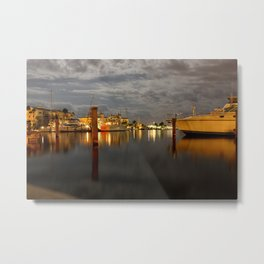 Night Harbor Metal Print