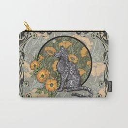 Cat Nouveau Carry-All Pouch