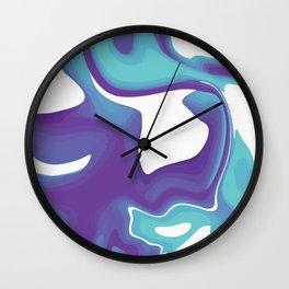 Liquid Marble Purple Shades 010 Wall Clock