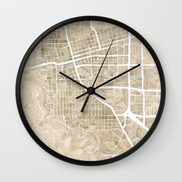 Boulder Colorado Watercolor Map Wall Clock