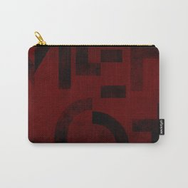 Merlot Wine Typography Carry-All Pouch
