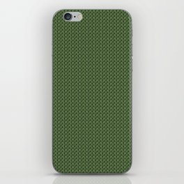 Knitted spring colors - Pantone Kale iPhone Skin