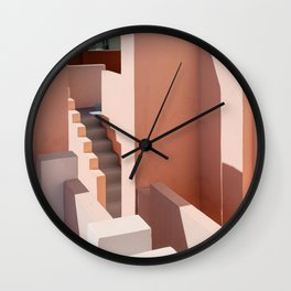 Shades of Pink at Muralla Roja | Travel fine art photography | Andalusia, Spain Wall Clock