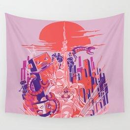 Smash! Zap!! Zooom!! - Big-Boobed Babe Wall Tapestry