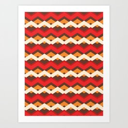 Bold Christmas Chevron Stripes Art Print