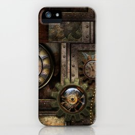 Steampunk, wonderful clockwork with gears iPhone Case