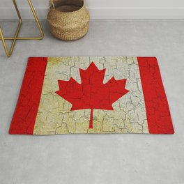 Cracked Canada flag Rug