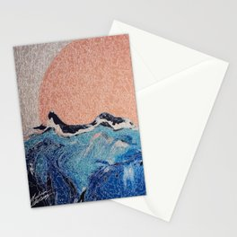 Sun of a Harvey - Storm Struggle Inspo - Acyrlic Painting Stationery Cards