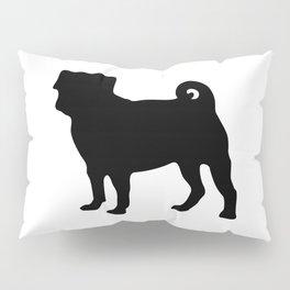 Simple Pug Silhouette Pillow Sham