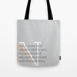 a letter to oneself : none Tote Bag