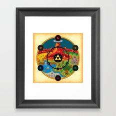 Hyrule Macrocosmica Framed Art Print
