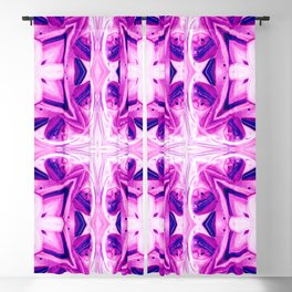 Pattern Pink Blue Geometric Shapes Abstract Blackout Curtain