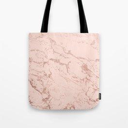 Modern rose gold glitter ombre foil blush pink marble pattern Tote Bag