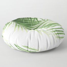 Palm Leaves Green Vibes #9 #tropical #decor #art #society6 Floor Pillow