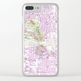 Vintage Map of Tempe Arizona (1952) Clear iPhone Case