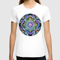 psychedelic art T-shirts featuring Mandala Psychedelic Art Design by BluedarkArt