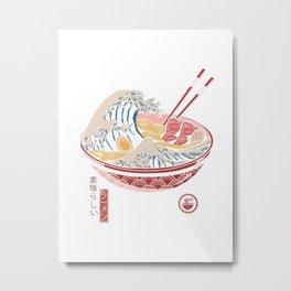 Great Ramen Wave Metal Print