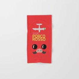 Porco Rosso - Hayao Miyazaki minimalist movie poster - Studio Ghibli, japanese animated film Hand & Bath Towel