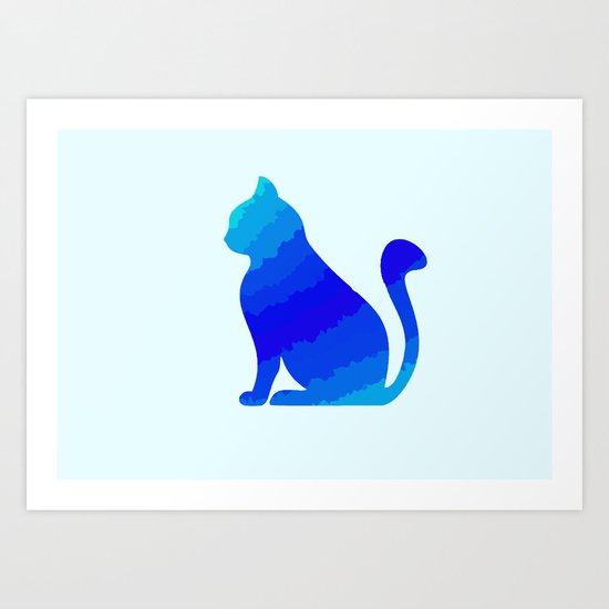 ICE CAT Art Print