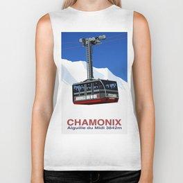 Chamonix Ski Resort , Aiguile du Midi Cable Car Biker Tank