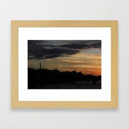 #ParisPostcards || Bonne nuit Framed Art Print