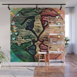 Opposites Graphic Art of Two Women Wall Mural