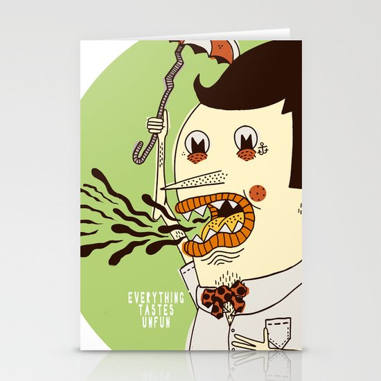 Everything Tastes Unfun Stationery Cards