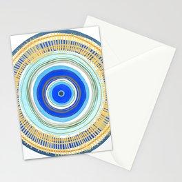 Turquoise Evil Eye Mandala Stationery Cards