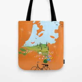 Holland travel poster Tote Bag