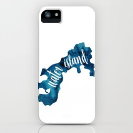 Water Island blue iPhone Case
