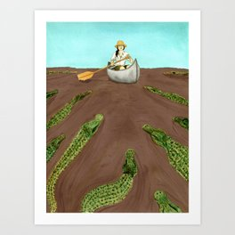 Up a Creek....with a lot of 'gators Art Print