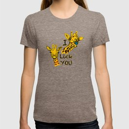 I like you girafe blue tong T-shirt