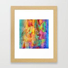 Colorful Butterfles Q Framed Art Print