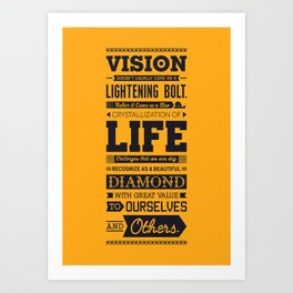 Lab No. 4 Vision Does Usually Dr. Michael Norwood Life Motivational Quotes Art Print