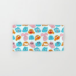 Gumball Faces Pattern Hand & Bath Towel