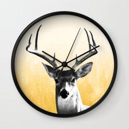 Deer Art Print Wall Clock