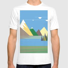 Hills White Mens Fitted Tee MEDIUM