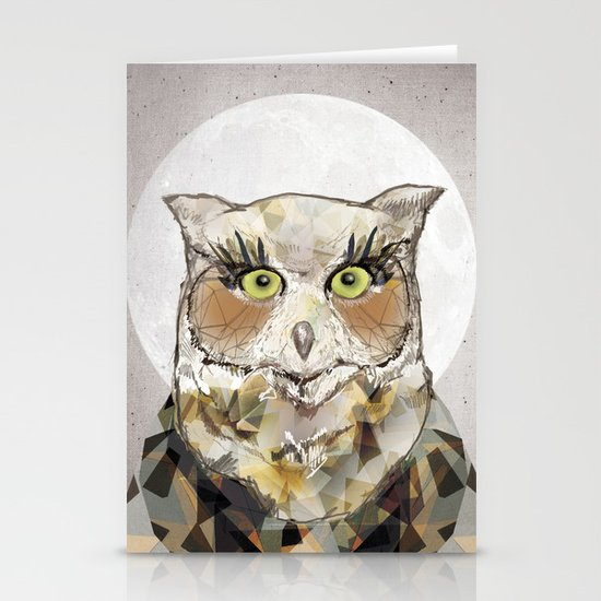 The Great Horned Owl Stationery Cards
